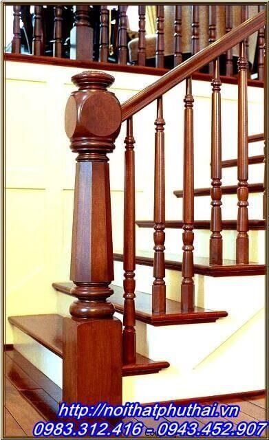Cầu thang gỗ PT1