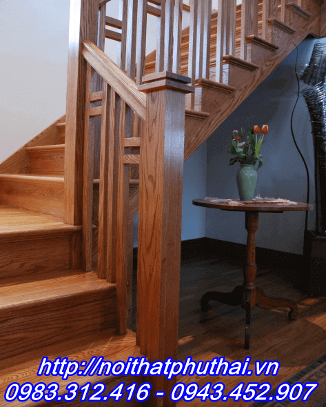 Cầu thang gỗ Lim Nam Phi PT11