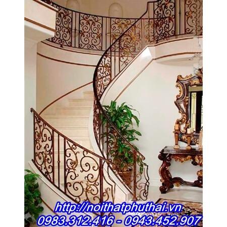 Cầu thang sắt nghệ thuật PT13