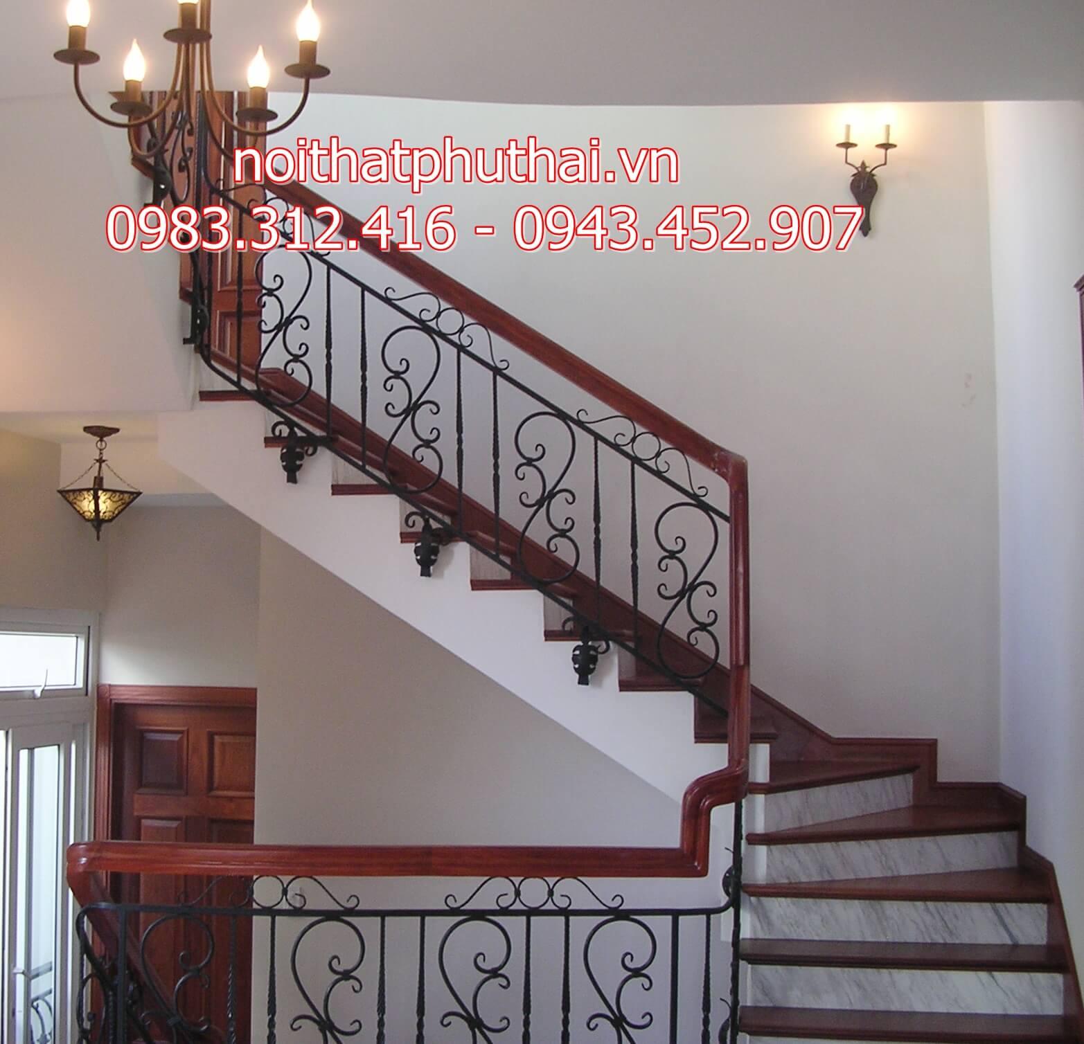 Cầu thang sắt nghệ thuật PT27