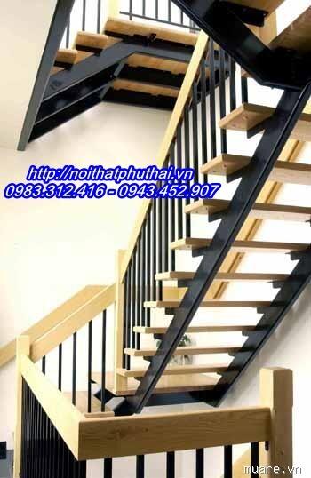 Cầu thang sắt xương cá PT8