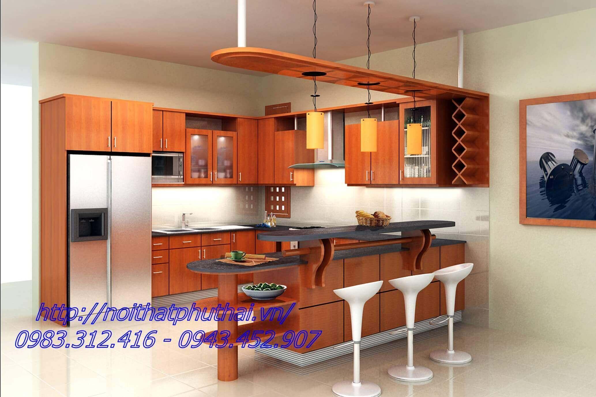 Tủ bếp gỗ công nghiệp PT1