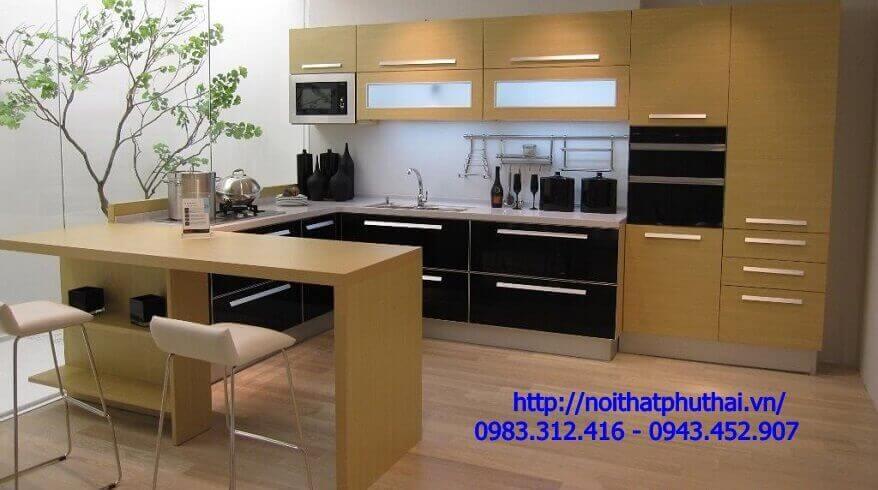 Tủ bếp gỗ Công nghiệp PT10