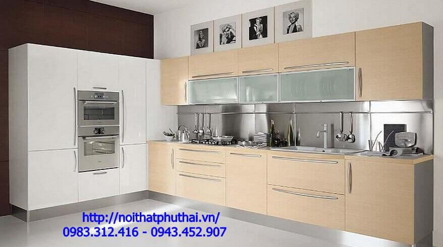 Tủ bếp gỗ Công nghiệp PT11