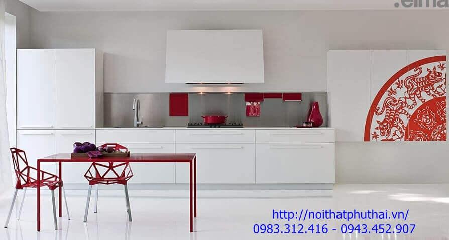 Tủ bếp gỗ công nghiệp PT13
