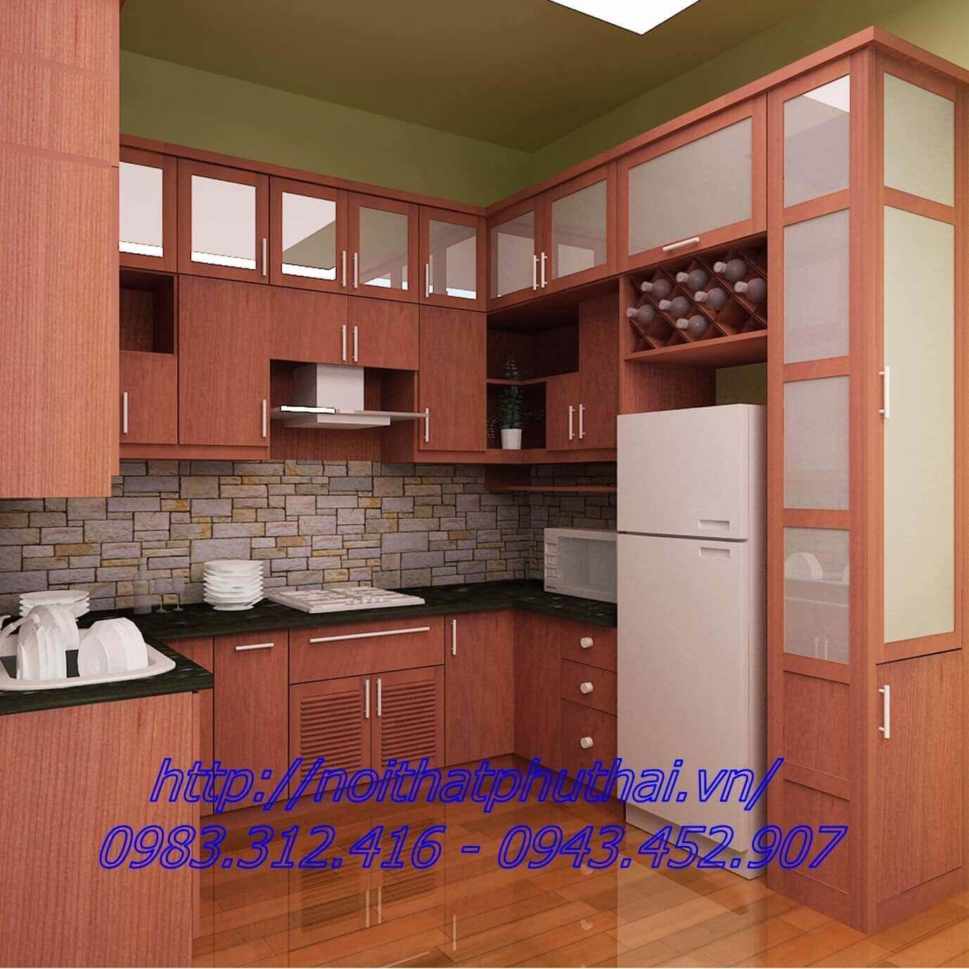 Tủ bếp gỗ công nghiệp PT2
