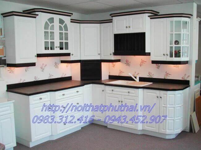 Tủ bếp gỗ công nghiệp PT4