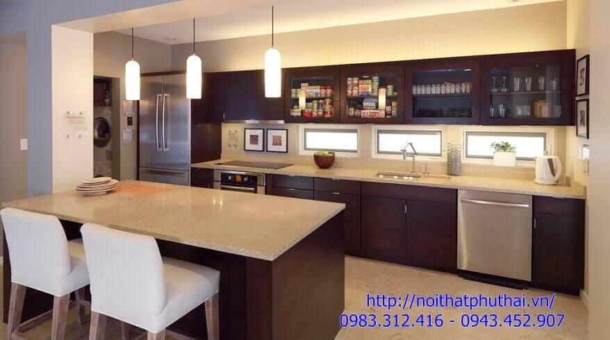 Tủ bếp gỗ công nghiệp PT6