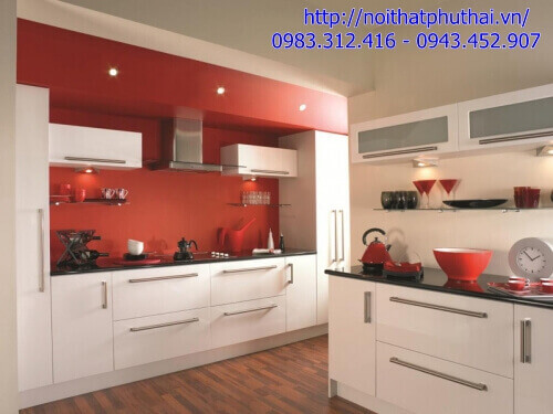 Tủ bếp gỗ công nghiệp PT7