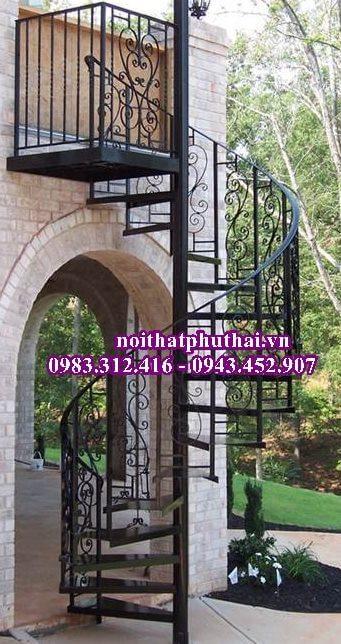 Cầu thang sắt xoắn ốc PT6