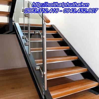 Cầu thang sắt xương cá kép 2 thân PT4