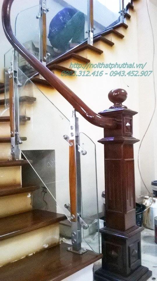 Công trình cầu thang kính, ban công kính tại Đại Áng - Thanh Trì - Hà Nội