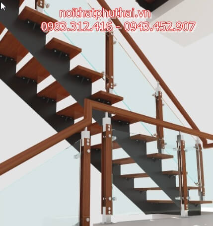 Cầu thang tiết kiệm diện tích PT14