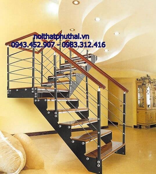 Cầu thang sắt xương cá PT2