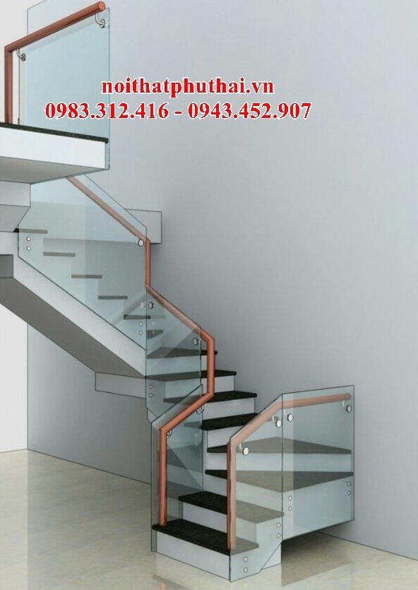 Cầu thang kính bắt pát PT11