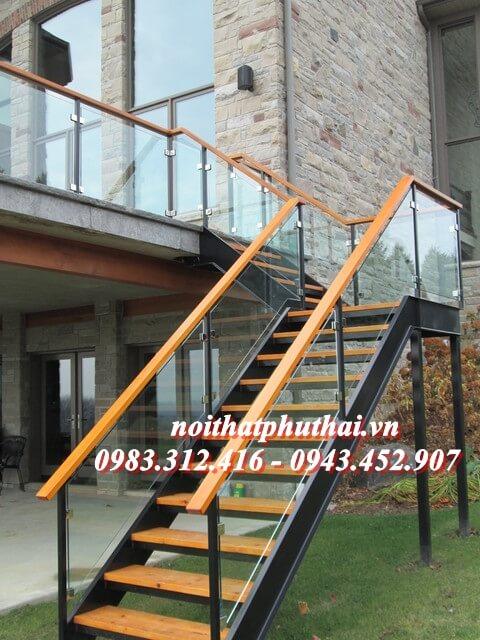 Cầu thang sắt xương cá PT6