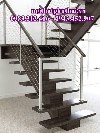 Cầu thang xương cá gỗ PT15