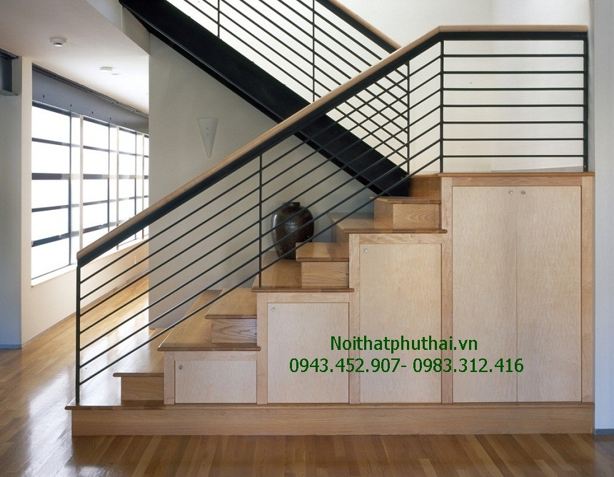 Cầu thang sắt hiện đại PT18
