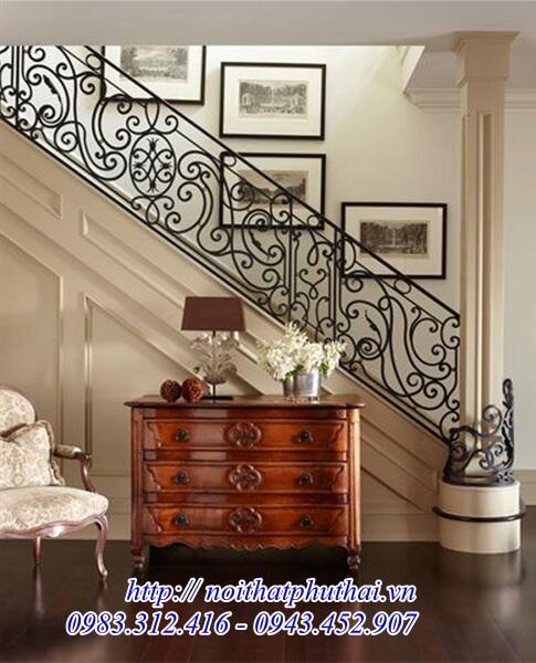 Cầu thang sắt nghệ thuật PT01
