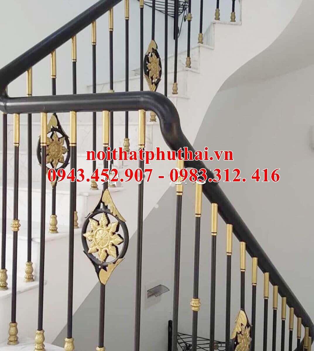 Cầu thang sắt nghệ thuật PT9