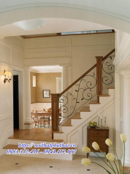 Cầu thang sắt nghệ thuật PT03