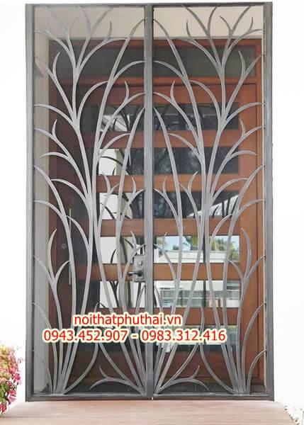 Cửa sổ sắt đẹp cắt CNC PT05