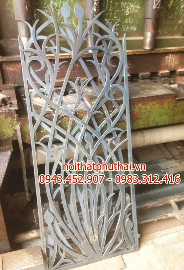 Hoa sắt mỹ thuật cắt CNC PT01