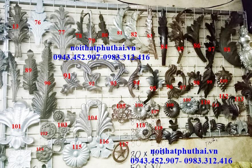 Hoa lá thép dập, đúc PT02