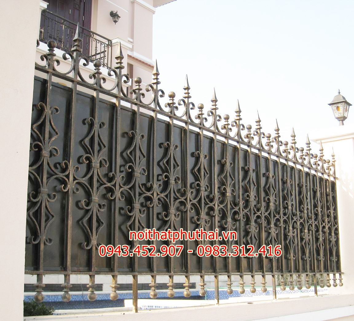 Hàng rào sắt mỹ thuật PT2