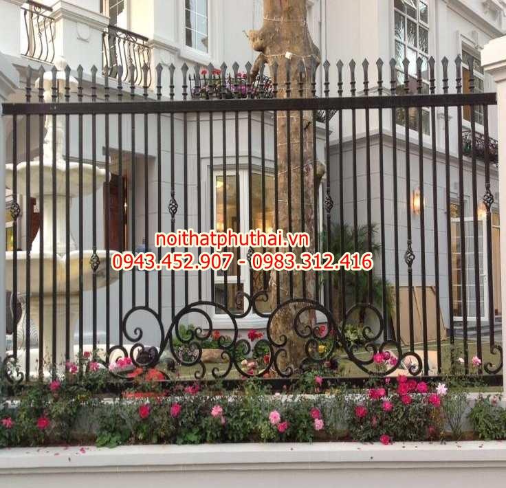 Hàng rào sắt mỹ thuật PT4