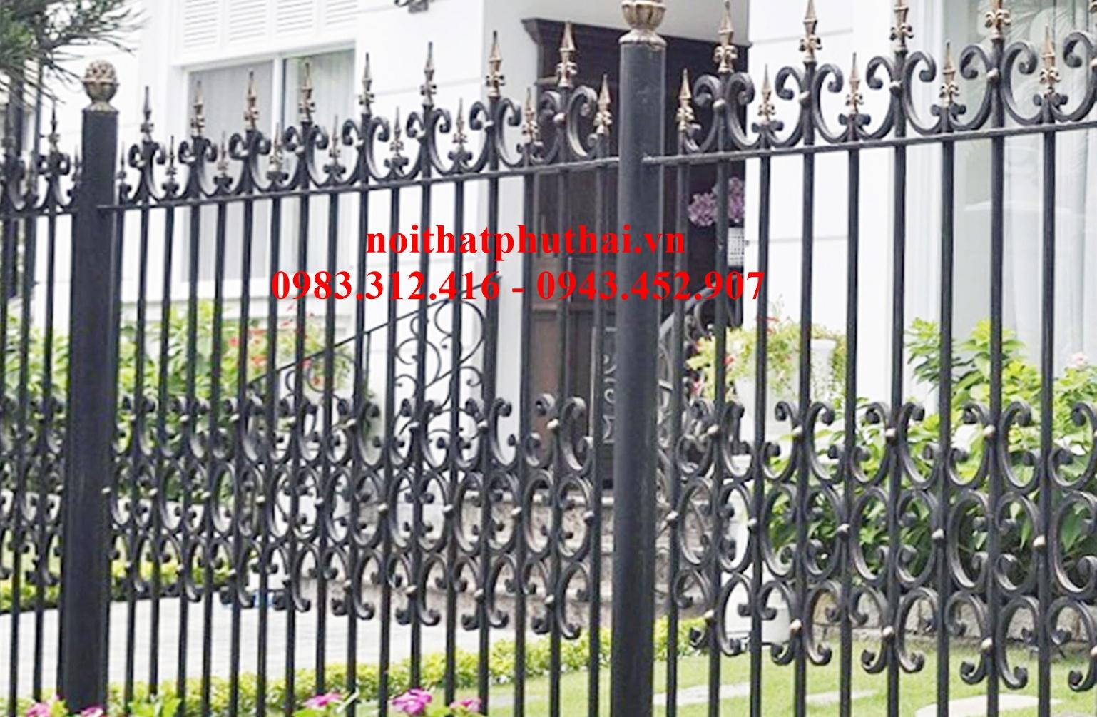 Hàng rào sắt mỹ thuật PT16